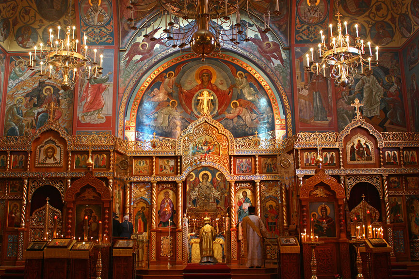 Cathedral Holy Orthodox Rainbow Russian Virgin